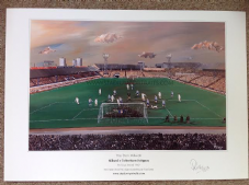 The Den, Millwall v Tottenham Hotspur FA Cup 3rd Round 1967 A3 Framed print